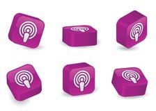 Blocs tridimensionnels de Podcast Images stock