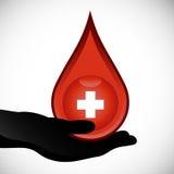 blod ger sig Arkivfoton