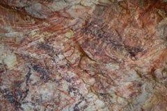 Blod målad sten Arkivfoto