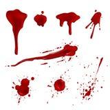 Blod plaskar Stock Illustrationer