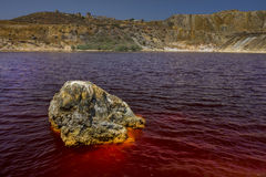 Blod red lake . Stock Photography