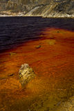 Blod red lake . Royalty Free Stock Photography