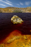 Blod red lake . Royalty Free Stock Images