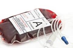 blod som samlar engångssatstransfusion Royaltyfri Fotografi