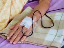 blod som samlar engångssatstransfusion Fotografering för Bildbyråer