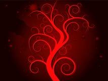 blod spökad tree Fotografering för Bildbyråer