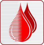 blod tappar logo Arkivbilder