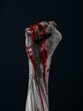 Bloda ner handlevande döddemonen arkivfoton