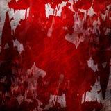 Blodad ner grungevägg Royaltyfri Fotografi
