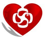 Blodcirkulationssymbol Arkivfoton