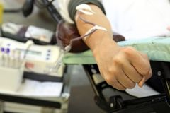 bloddonation Arkivfoto
