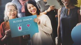 Bloddonation ger det livtransfusionSangre begreppet Royaltyfri Bild