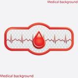 Bloddonationvektor. Arkivfoto