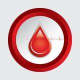 Bloddonationvektor. Royaltyfria Bilder