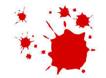 Bloddroppar royaltyfri bild