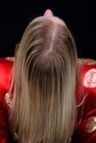 Blode Female Leaning Back Stock Image