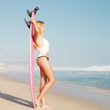 Blode surfer Girl Royalty Free Stock Photo