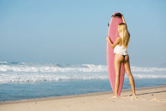 Blode surfer Girl Royalty Free Stock Images