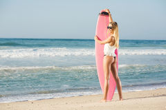 Blode surfer Girl Stock Photo