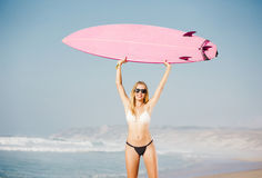 Blode surfer Girl Stock Photography