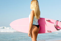 Blode surfer Girl Royalty Free Stock Photos