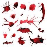 Blodfärgstänkvektor Vektor Illustrationer