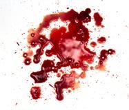 Blodfläckar på vit Royaltyfri Bild