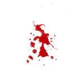 Blodfläckar (pöl) som isoleras på vitbakgrund Arkivfoton