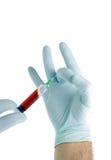 blodhandinjektionsspruta Arkivfoto