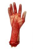 blodig hand Arkivfoto