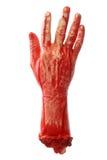 blodig hand Royaltyfria Bilder