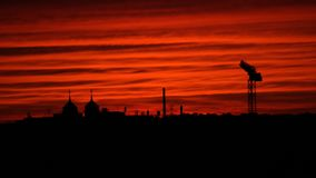 Blodig himmel vårt nya hopp Arkivbilder