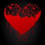 blodig hjärta Royaltyfri Fotografi