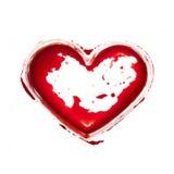 Blodig hjärta Arkivbilder