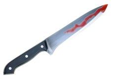 blodig kniv Fotografering för Bildbyråer