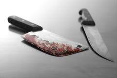 blodig kniv Royaltyfria Bilder