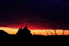 blodig solnedgång röd solnedgång royaltyfri foto