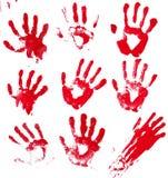 blodiga händer arkivbilder