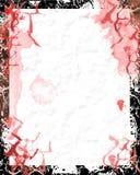 blodigt grungepapper Arkivfoto