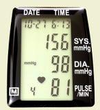 blodmomitortryck Arkivfoto