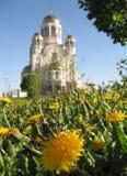blodrussia tempel yekaterinburg Royaltyfria Bilder