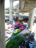 Blodstockning för Bangkok stadstrafik Arkivfoto