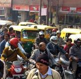 blodstockningindia trafik royaltyfri foto