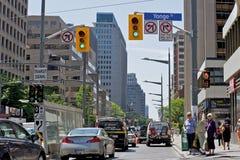 blodstockningtoronto trafik royaltyfri foto