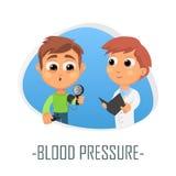 Blodtryckläkarundersökningbegrepp också vektor för coreldrawillustration Royaltyfria Foton