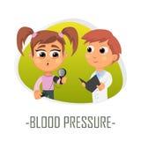 Blodtryckläkarundersökningbegrepp också vektor för coreldrawillustration Royaltyfri Fotografi