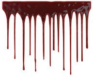 Bloed die neer druipen Stock Foto's