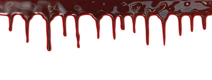 Bloed die neer druipen Royalty-vrije Stock Foto