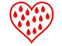 Bloed in het hart Stock Afbeeldingen
