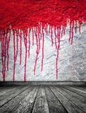 Bloed op muur Royalty-vrije Stock Foto's